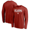 Oklahoma Sooners Fanatics Branded True Sport Football Long Sleeve T-Shirt - Crimson