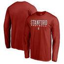 Stanford Cardinal Fanatics Branded True Sport Football Long Sleeve T-Shirt - Cardinal