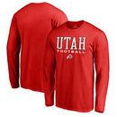 Utah Utes Fanatics Branded True Sport Football Long Sleeve T-Shirt - Red
