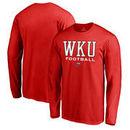 Western Kentucky Hilltoppers Fanatics Branded True Sport Football Long Sleeve T-Shirt - Red