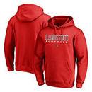 Illinois State Redbirds Fanatics Branded True Sport Football Pullover Hoodie - Red