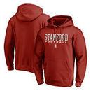 Stanford Cardinal Fanatics Branded True Sport Football Pullover Hoodie - Cardinal