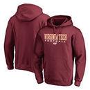 Virginia Tech Hokies Fanatics Branded True Sport Football Pullover Hoodie - Maroon