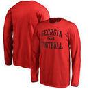 Georgia Bulldogs Fanatics Branded Youth Neutral Zone Long Sleeve T-Shirt - Red