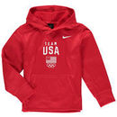 Team USA Nike Youth Therma Performance Pullover Hoodie - Red