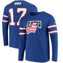 US Hockey Nike Buffalo Replica Jersey Long Sleeve Tri-Blend T-Shirt – Blue