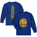 Kevin Durant Golden State Warriors Fanatics Branded Youth Stacked Name & Number Long Sleeve T-Shirt - Royal