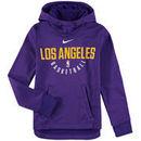 Los Angeles Lakers Nike Youth Elite Practice Performance Hoodie - Purple