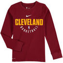 Cleveland Cavaliers Nike Youth Elite Performance Practice Long Sleeve T-Shirt - Wine