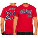 Aaron Judge Fresno State Bulldogs Original Retro Brand Baseball Name and Number T-Shirt - Red