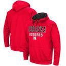 Nebraska Cornhuskers Colosseum Big & Tall Pullover Hooded Sweatshirt - Scarlet