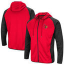 Louisville Cardinals Colosseum Collating Full-Zip Hoodie - Red