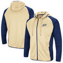 Navy Midshipmen Colosseum Collating Full-Zip Hoodie - Gold/Navy