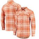 Texas Longhorns Columbia Flare Gun Flannel Omni-Wick Long Sleeve Button-Up Shirt - Texas Orange