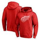 Detroit Red Wings Fanatics Branded Splatter Logo Pullover Hoodie - Red
