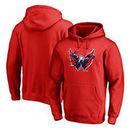 Washington Capitals Fanatics Branded Splatter Logo Big and Tall Pullover Hoodie - Red