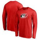 Carolina Hurricanes Fanatics Branded Splatter Logo Big and Tall Long Sleeve T-Shirt - Red