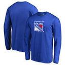 New York Rangers Fanatics Branded Splatter Logo Big and Tall Long Sleeve T-Shirt - Royal