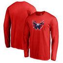 Washington Capitals Fanatics Branded Splatter Logo Big and Tall Long Sleeve T-Shirt - Red