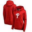 Philadelphia Phillies Fanatics Branded Women's Splatter Logo Pullover Hoodie - Red