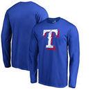 Texas Rangers Fanatics Branded Splatter Logo Long Sleeve T-Shirt - Royal