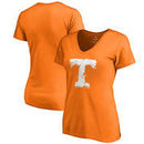 Tennessee Volunteers Fanatics Branded Women's Splatter Logo V-Neck T-Shirt - Tennessee Orange