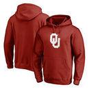 Oklahoma Sooners Fanatics Branded Splatter Logo Pullover Hoodie - Crimson