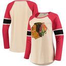 Chicago Blackhawks Red Jacket Women's Athena Pullover Sweatshirt – Cream