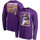 Randy Moss Minnesota Vikings NFL Pro Line by Fanatics Branded Career Stats Long Sleeve Long Sleeve T-Shirt - Purple