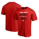 Rutgers Scarlet Knights Fanatics Branded Against The World Big and Tall T-Shirt - Red