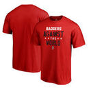 Wisconsin Badgers Fanatics Branded Against The World Big and Tall T-Shirt - Red