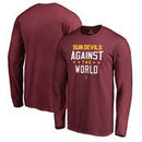 Arizona State Sun Devils Fanatics Branded Against The World Long Sleeve T-Shirt - Garnet