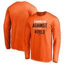 Oklahoma State Cowboys Fanatics Branded Against The World Long Sleeve T-Shirt - Orange