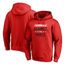 Louisville Cardinals Fanatics Branded Against The World Pullover Hoodie - Red
