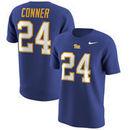 James Conner Pitt Panthers Nike Name & Number T-Shirt - Royal