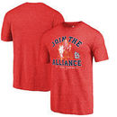 St. Louis Cardinals Fanatics Branded MLB Star Wars Join The Alliance Tri-Blend T-Shirt – Red