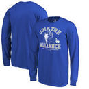 Los Angeles Dodgers Fanatics Branded Youth MLB Star Wars Join The Alliance Long Sleeve T-Shirt – Royal