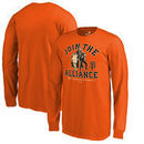 San Francisco Giants Fanatics Branded Youth MLB Star Wars Join The Alliance Long Sleeve T-Shirt – Orange