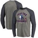 Atlanta Braves Fanatics Branded MLB Star Wars Join The Alliance Raglan Long Sleeve T-Shirt – Heather Gray
