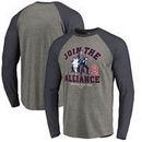Boston Red Sox Fanatics Branded MLB Star Wars Join The Alliance Raglan Long Sleeve T-Shirt – Heather Gray