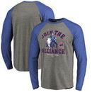 Chicago Cubs Fanatics Branded MLB Star Wars Join The Alliance Raglan Long Sleeve T-Shirt – Heather Gray