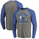 Kansas City Royals Fanatics Branded MLB Star Wars Join The Alliance Raglan Long Sleeve T-Shirt – Heather Gray