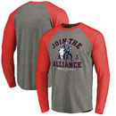 Los Angeles Angels Fanatics Branded MLB Star Wars Join The Alliance Raglan Long Sleeve T-Shirt – Heather Gray