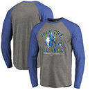 Milwaukee Brewers Fanatics Branded MLB Star Wars Join The Alliance Raglan Long Sleeve T-Shirt – Heather Gray