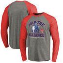 Philadelphia Phillies Fanatics Branded MLB Star Wars Join The Alliance Raglan Long Sleeve T-Shirt – Heather Gray