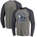 San Diego Padres Fanatics Branded MLB Star Wars Join The Alliance Raglan Long Sleeve T-Shirt – Heather Gray