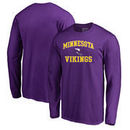 Minnesota Vikings NFL Pro Line by Fanatics Branded Vintage Collection Victory Arch Big & Tall Long Sleeve T-Shirt - Purple