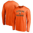 Cleveland Browns NFL Pro Line by Fanatics Branded Vintage Collection Victory Arch Big & Tall Long Sleeve T-Shirt - Orange