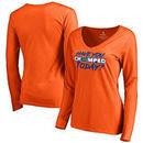 Florida Gators Fanatics Branded Women's Chomp Today V-Neck Long Sleeve T-Shirt – Orange