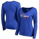 Florida Gators Fanatics Branded Women's Have You Chomped Today V-Neck Long Sleeve T-Shirt – Royal